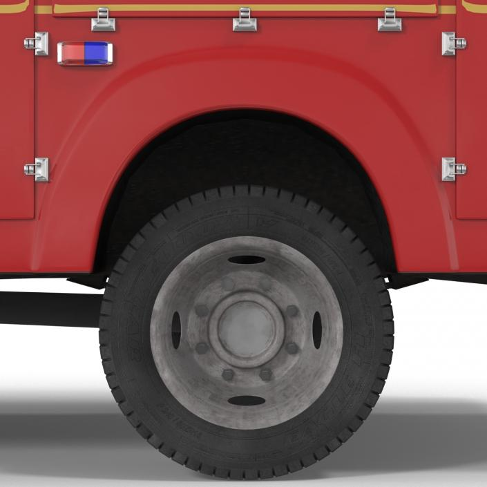 3D model Chevrolet Fire Truck