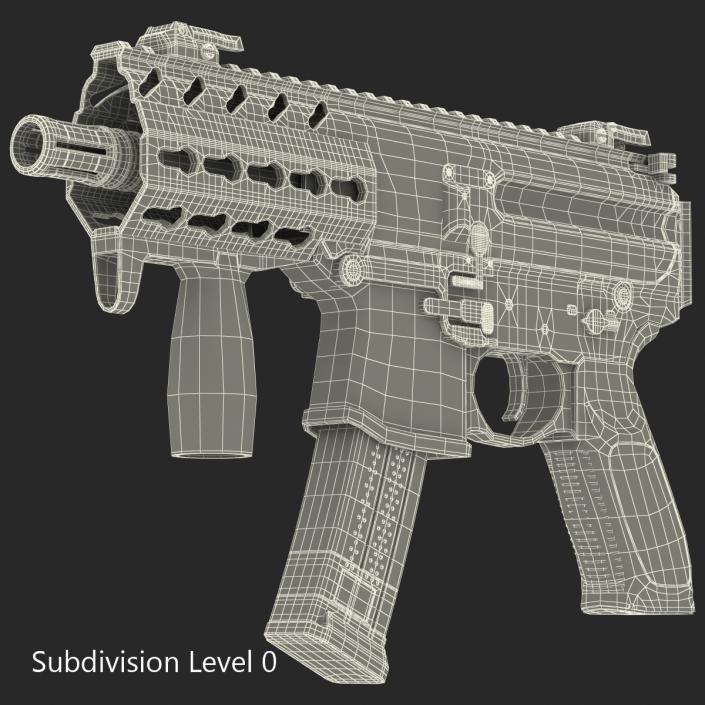 3D Machine Pistol Sig Sauer MPX model