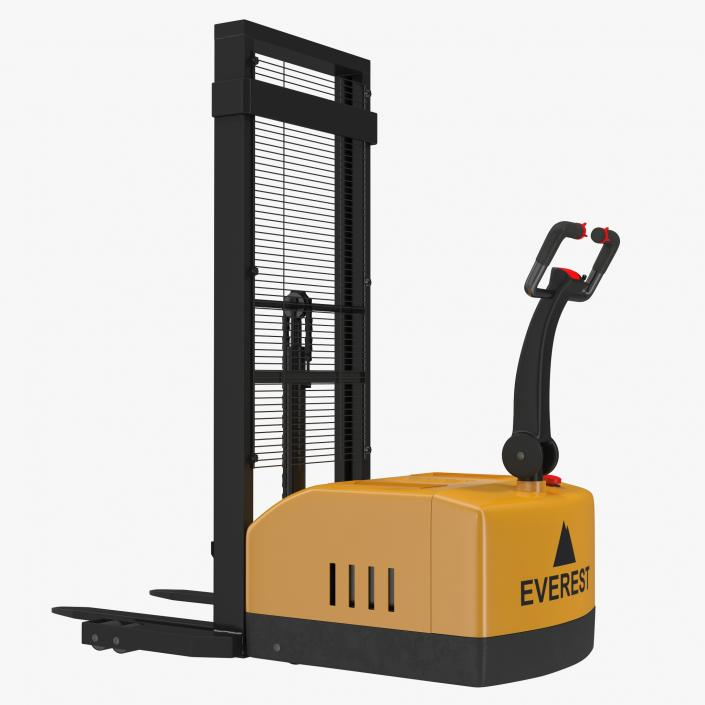 electric walkie stacker rigged yellow 3d 3d molier international