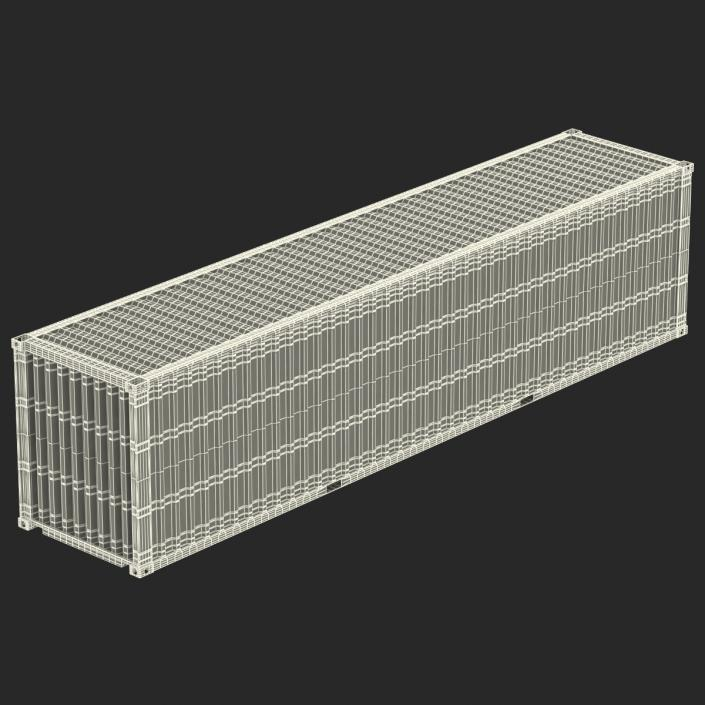 3D 40 ft High Cube Container White