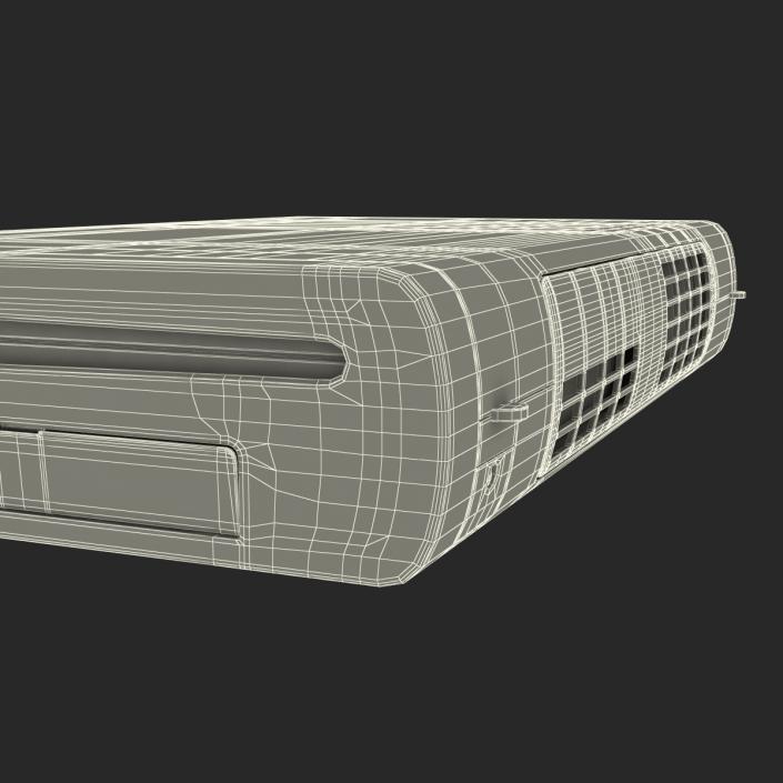 3D Nintendo Wii U Console Black model