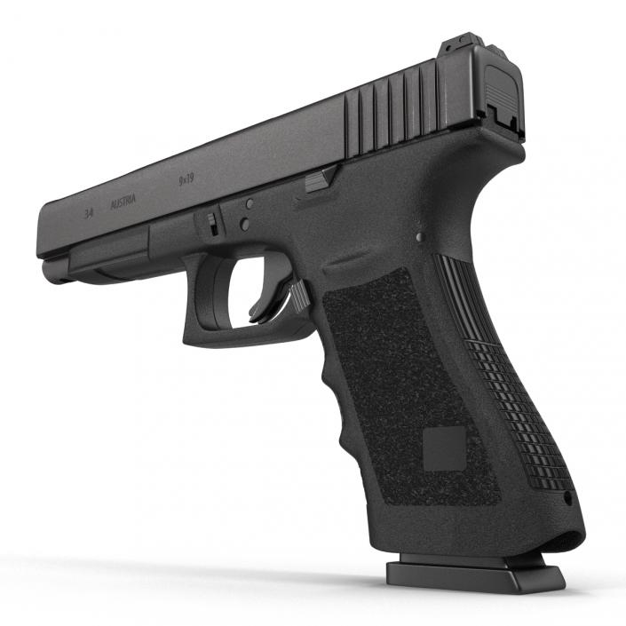 Generic Competition Pistol Black 3D
