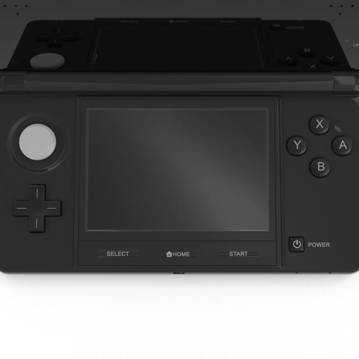3D Nintendo 3DS Black model