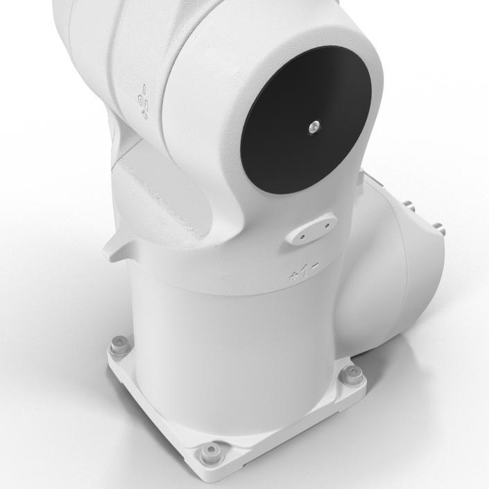 3D model Kuka Robot KR 10 R1100 White Rigged