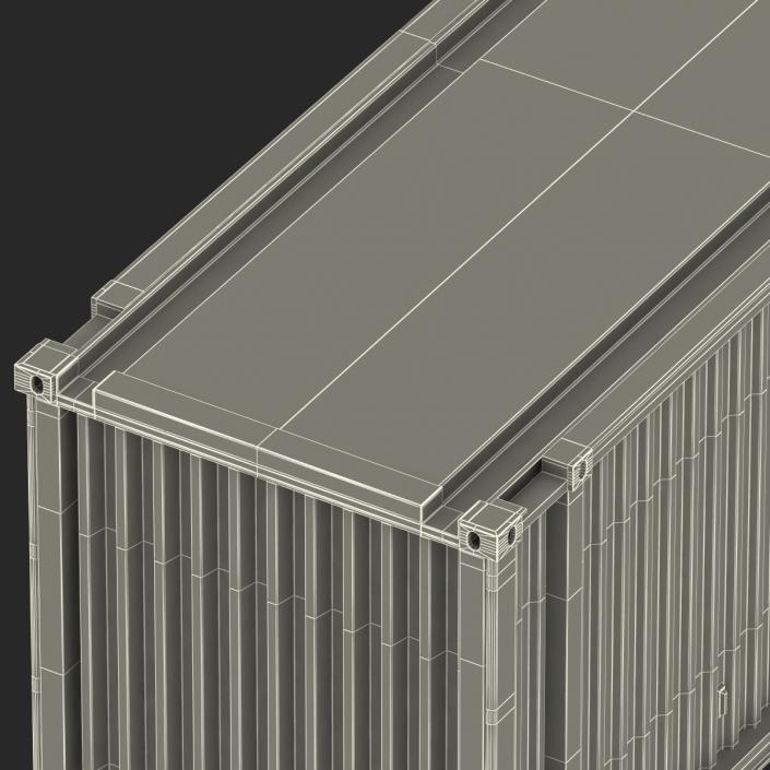 3D model 45 ft High Cube Container Blue