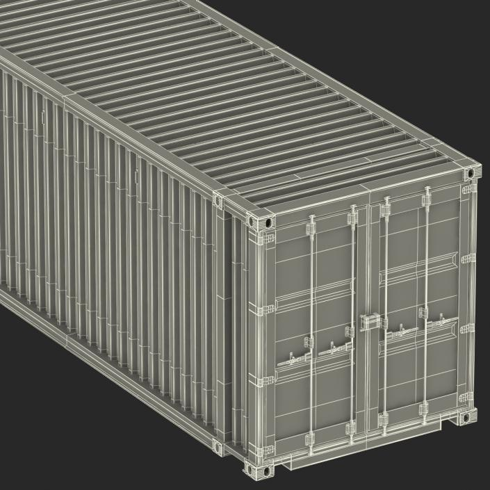 45 ft High Cube Container Red 3D model