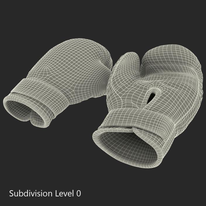 3D Boxing Gloves Blue model