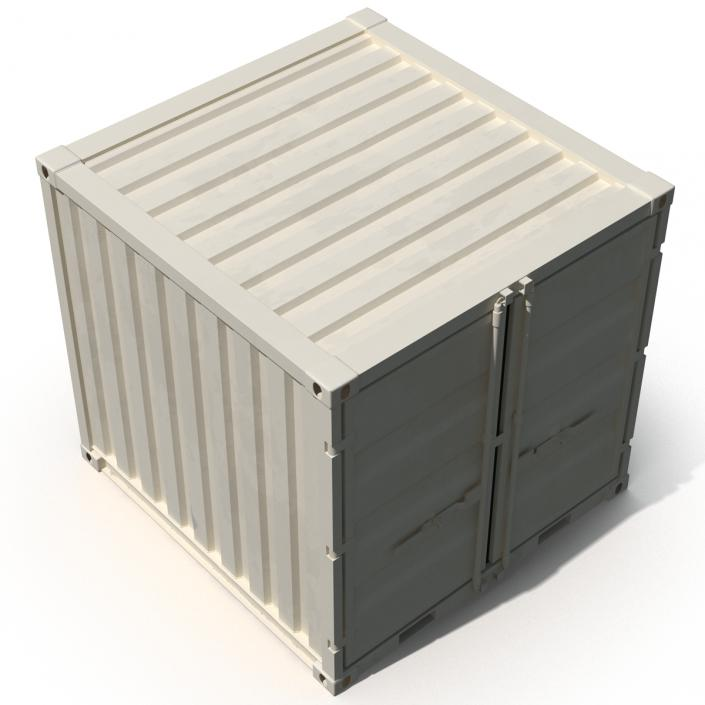 3D 8 ft Storage Container White model