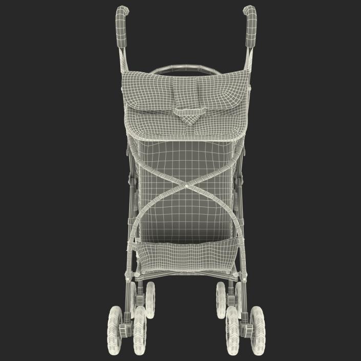3D Baby Stroller Blue model