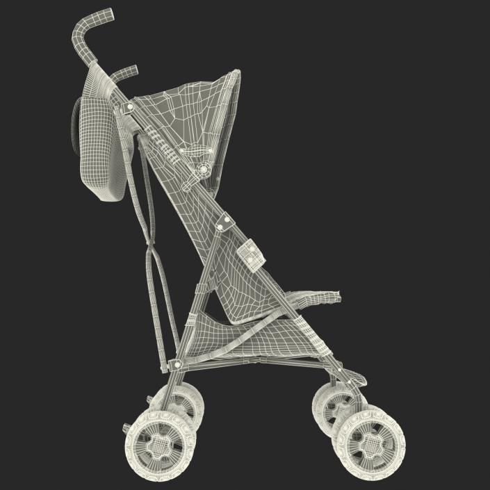 Baby Stroller Red 3D