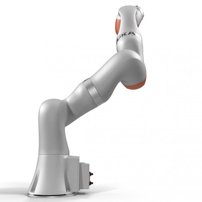 3D Kuka Robot LBR IIWA 7 R800 Rigged model