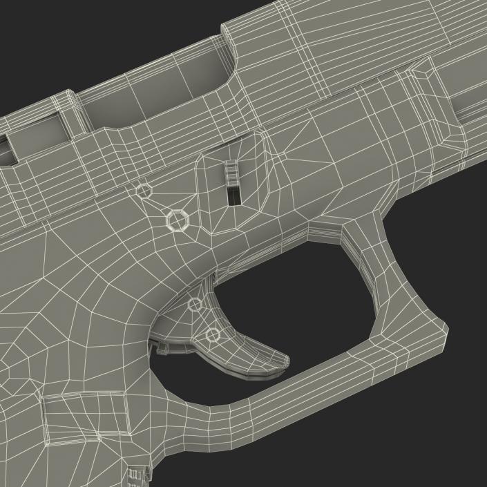 Compact Pistol Glock 19 Black 3D model