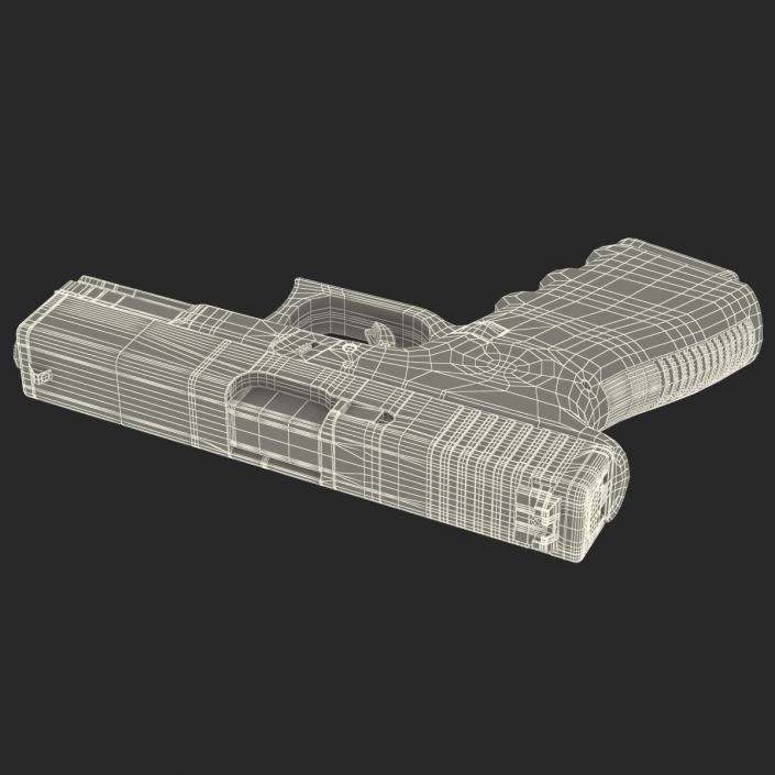 3D Compact Pistol Glock 19 model