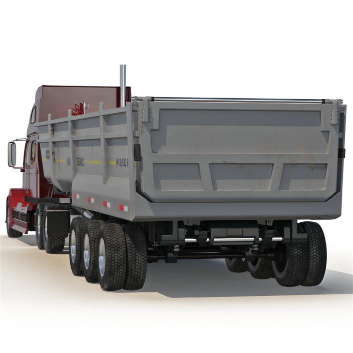 3D model Semi Dump Trailer Truck 2