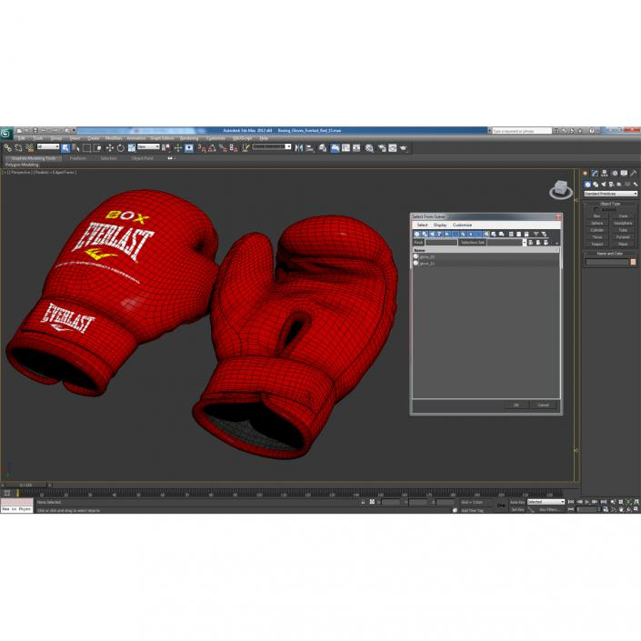 3D Boxing Gloves Everlast Red
