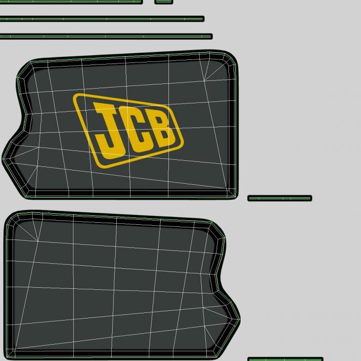 Telescopic Handler Forklift JCB 535 95 Yellow 3 3D