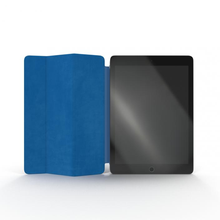 iPad Air 2 Space Gray and Smart Cover 3D