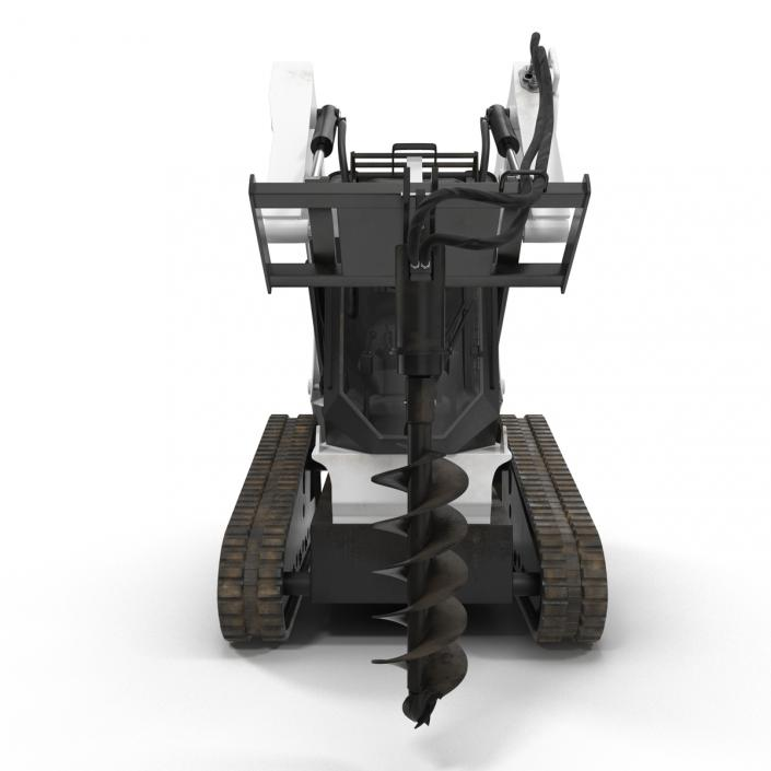 3D model Compact Tracked Loader with Auger Rigged