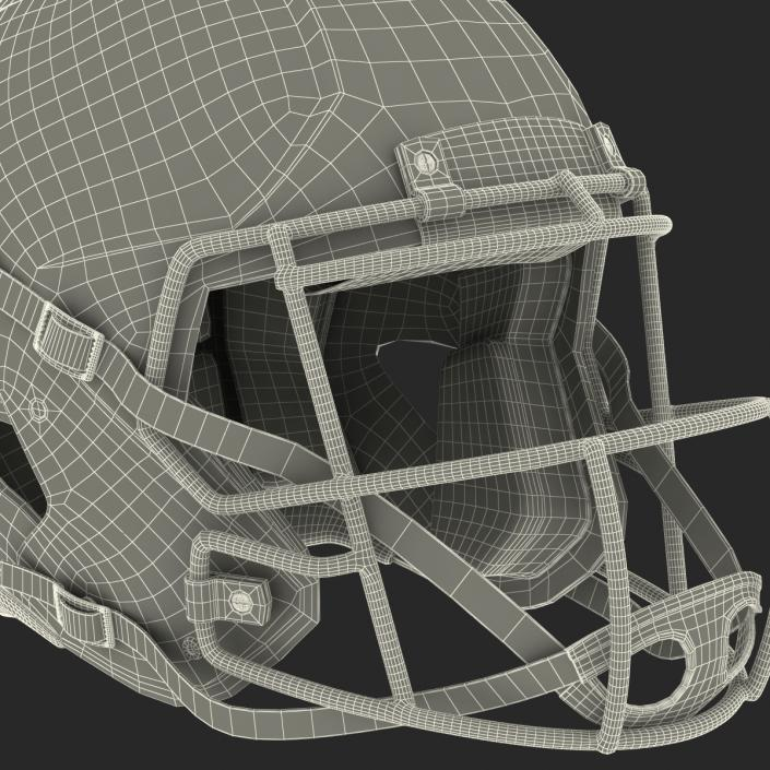 3D model Football Helmet 3 Generic