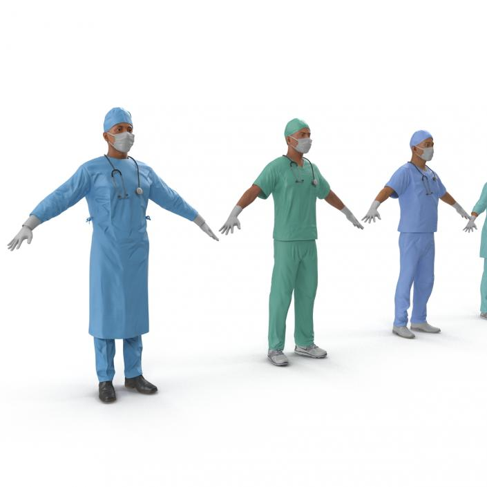 3D Doctors Collection model