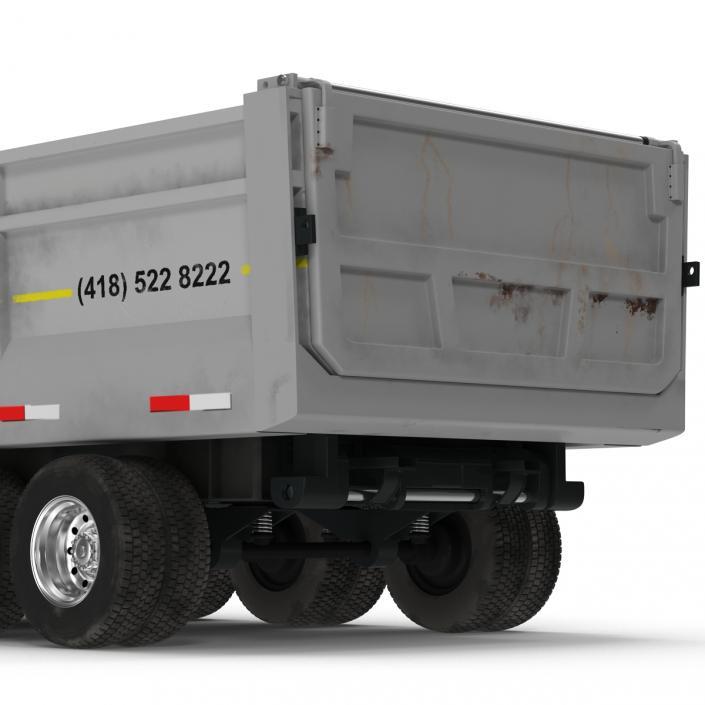 Semi Dump Trailer Rigged 3D model