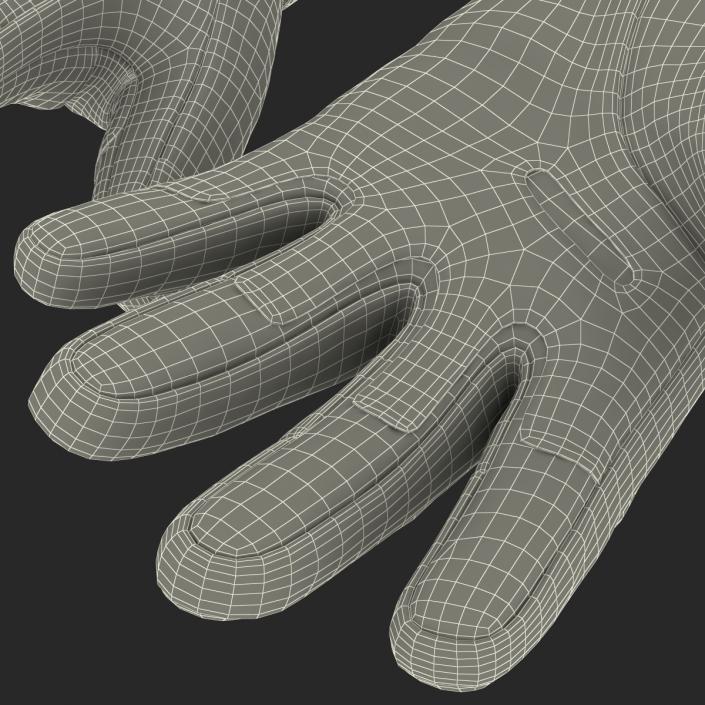 3D US Soldier Gloves Black model
