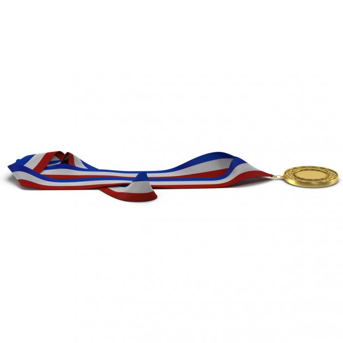 3D Award Medal 3 Gold model