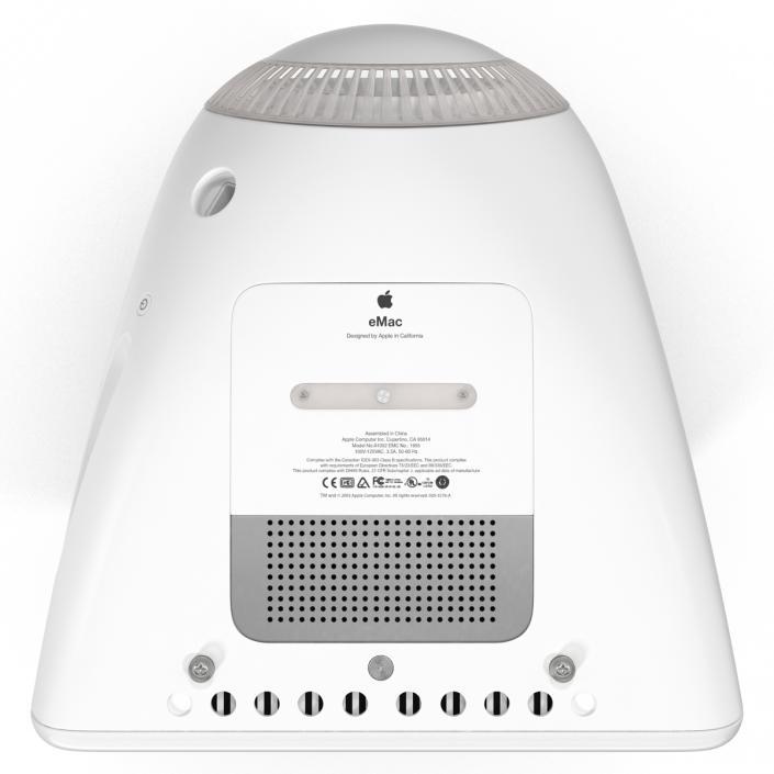 3D Apple eMac Desktop model