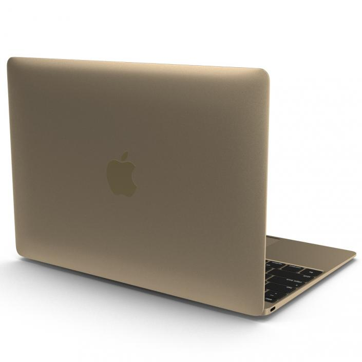 Apple MacBook Pro Gold 3D