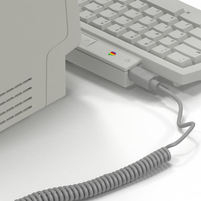 3D Apple Macintosh Classic II Desktop Computer model