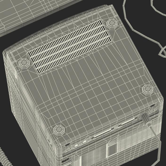 3D Apple Macintosh Classic II Desktop Computer model