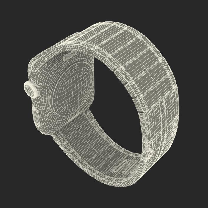 3D Apple Watch 38mm Link Bracelet Dark Space 2 model