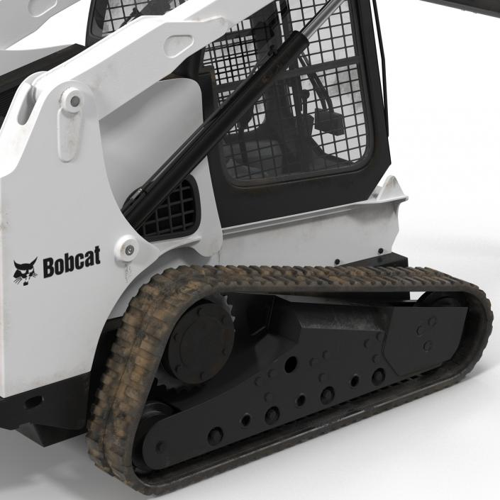 3D model Compact Tracked Loader Bobcat with Auger