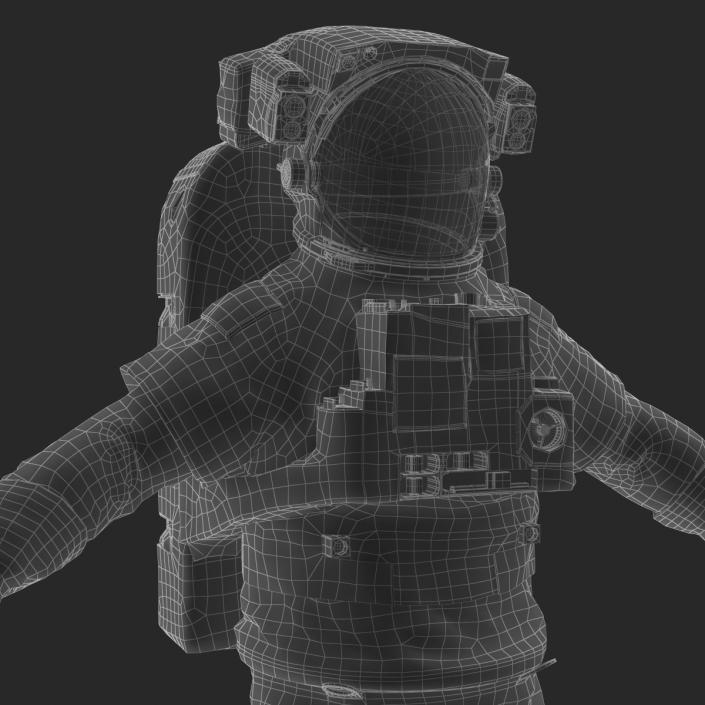 NASA Space Suit Extravehicular Mobility Unit 3D model