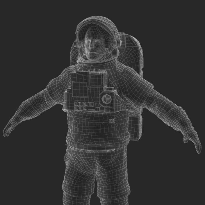 3D Astronaut Nasa Extravehicular Mobility Unit without Visor Rigged 2