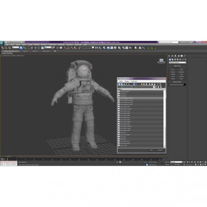 3D model Astronaut Nasa Extravehicular Mobility Unit Rigged