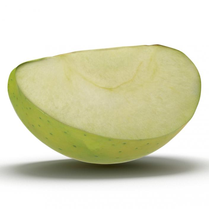 Green Apple Slice 3D