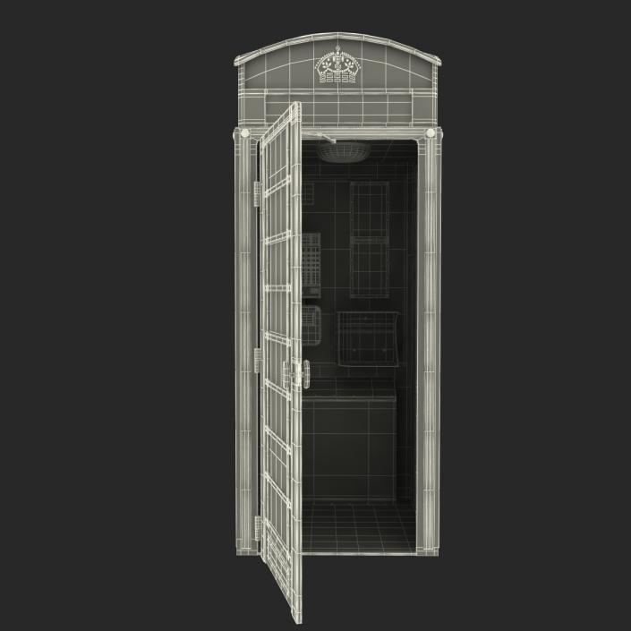 3D model British Red Telephone Box