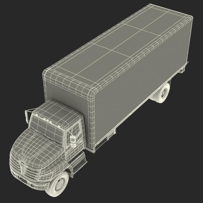 3D Box Truck Rigged