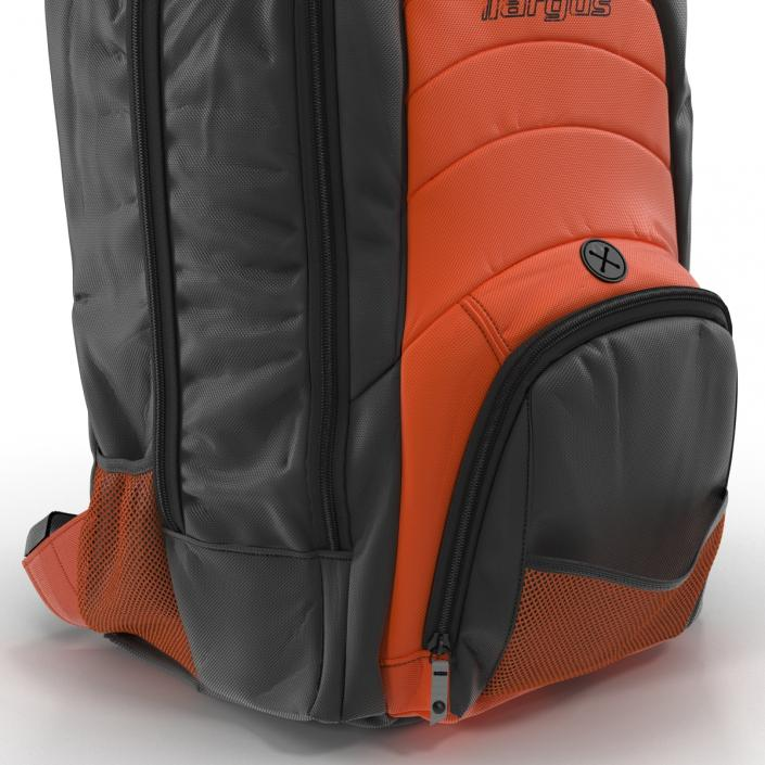 3D Backpack Black Orange