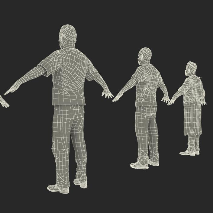 3D model Rigged Doctors Collection