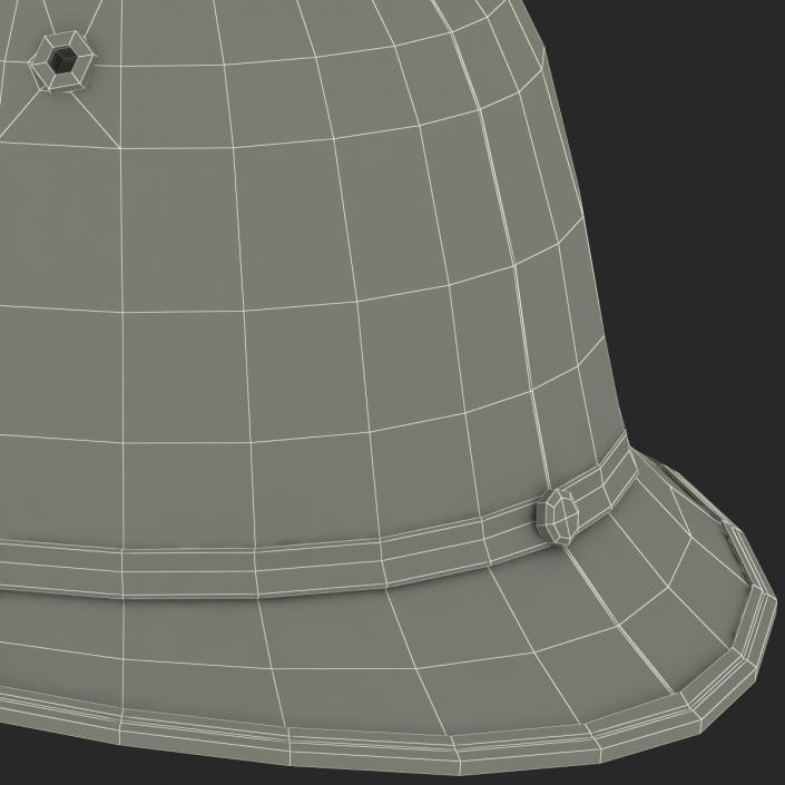 3D London Metropolitan Police Custodian Helmet model