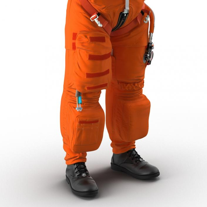 3D model US Advanced Crew Escape Suit ACES Rigged