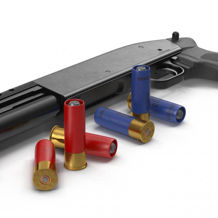 Shotgun and Shells Collection 3D model