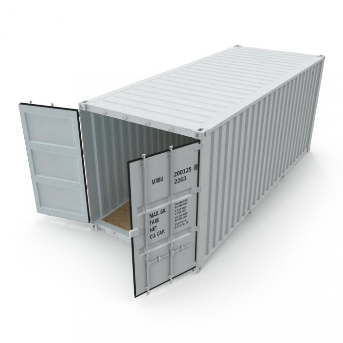 3D model 20 ft ISO Container White