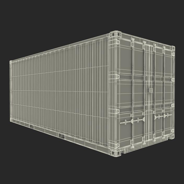20 ft ISO Container Blue 3D model