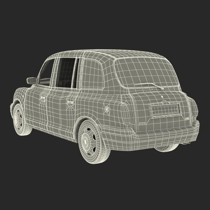 London Cab TX1 3D model
