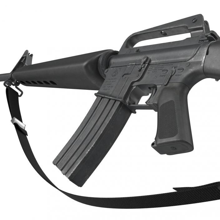 Assault Rifle M16 2 3D model