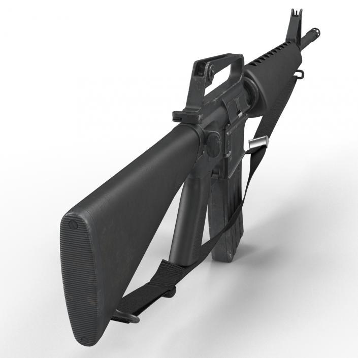 Assault Rifle M16 3 3D model