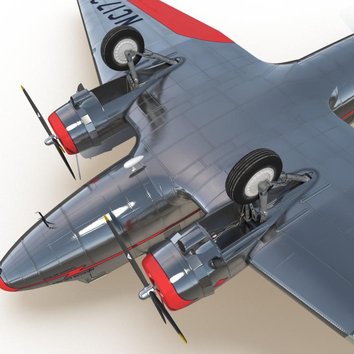 3D model Douglas DC-3 American Airlines